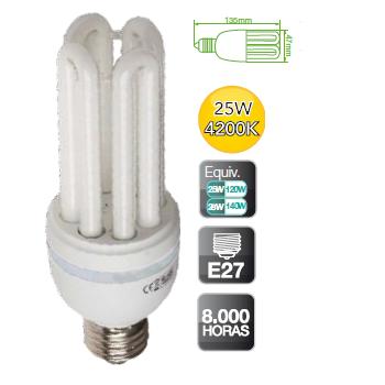 Bombilla bajo consumo 11w 15w 20w 25 w 840 grupo respira - Halogenos led bajo consumo ...