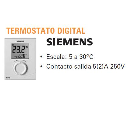 Siemens rdh10 affordable suce do obsugi regulatora w for Termostato digital siemens rdh10